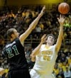 Valparaiso's Kevin Van Wijk drives for a layup in Saturday night's semifinals of the Horizon League Tournament.