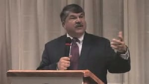 VIDEO: AFL-CIO president speaks to leaders