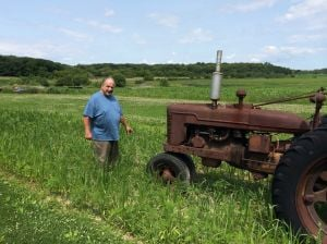 Winfield farmer's field is high, but not dry
