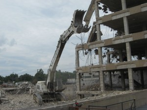 Demolition of former hospital continues