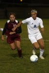  Hanover Central's Carrie Johnston and Lake Central's Kara Polus