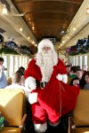 No more reindeer, Santa hits the rails