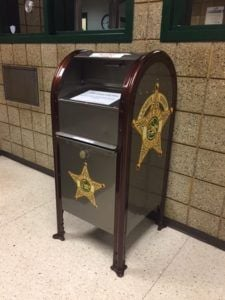 laporte county police get bigger drop box for pills