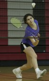 T.F. South badminton player Jessica Gomez