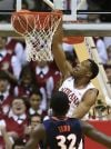 Hoosiers end skid by holding off Illini 56-46