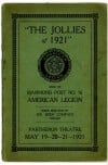 Historic Stage Program for &quot;The Jollies of 1921&quot; at Parthenon Theatre in Hammond, Ind.