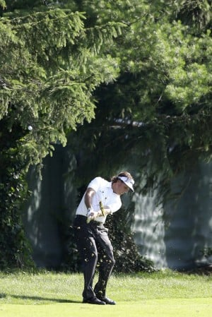 Mickelson, Horschel share clubhouse lead at Merion