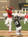 Griffith's Kody Hoese beats the tag at second base by Morton's Devonte Robinson on Thursday.