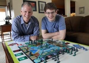 Father-son team develops board game