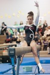 Portage senior Mackenzi Barcelli won beam (9.5), floor exercise (9.75) and finished second in all-around (38.275) at Saturday's DAC gymnastics meet.