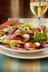 Autumn Apple, Ham and Goat Cheese Salad