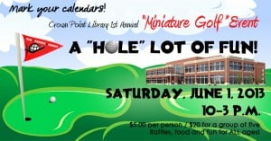 Miniature golf is coming to Crown Point Library