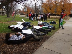 Purdue Calumet students, members of Jewish community hold counter protests
