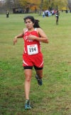 T.F. South's Iris Sanchez finishes