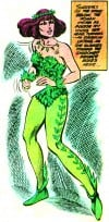 Batman Villainess Poison Ivy from DC Comics 1981 Drawn by Artists Irv Novick and Steve Mitchell