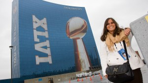 Highland grad Jen Miller enjoying the wild Super Bowl ride