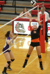 Hobart vs LaPorte, Girls volleyball