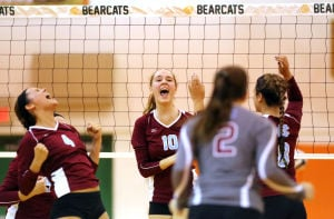 Girls Volleyball, Hanover Central at Wheeler