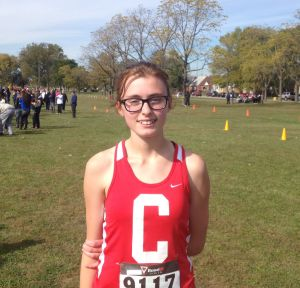 In the headphones: Calumet cross country runner Summer Brown