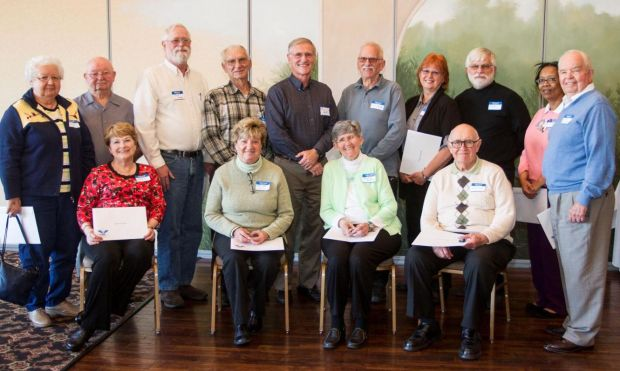 Meals on Wheels of NWI volunteer treated to lunch and awards