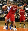 Lake Central's Tyler Wideman, Munster's Nate Bubash