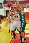 Portage's Jacob Bearss tries to power through Valpo's John Mosser