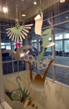 Artist's work installed in new Crown Point library