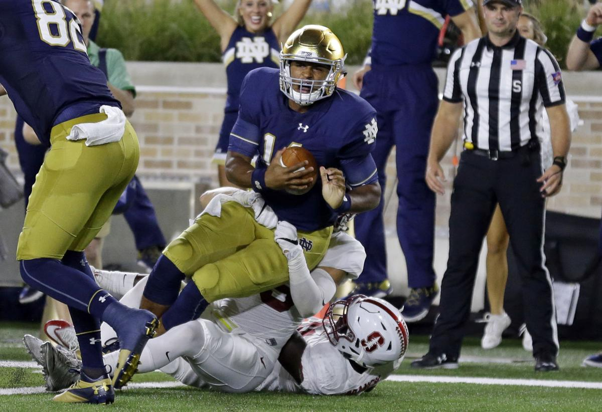 tonight football game notre dame stanford score