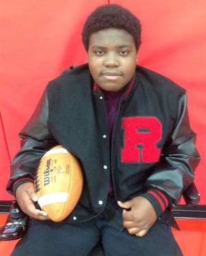 JIM PETERS: Prude is a source of inspiration to Rensselaer football team
