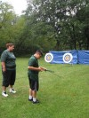 Chicagoans take archery lessons at Eggers Woods