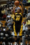 Lew Wallace senior guard Maurice Thurmond shoots