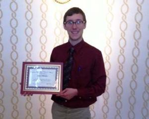 Outstanding Future Educator award recipient