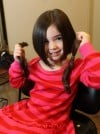 Three-year-old donates hair