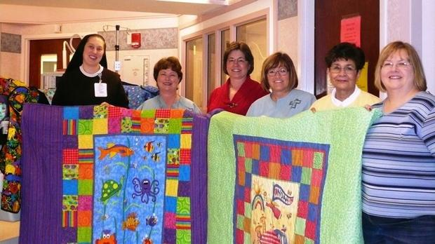 Quilters' skills cover needs of hospital's NICU