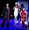 "Scott Bradley (left to right), Sean Blake and Danielle Plisz in ""The Three Lizas"""