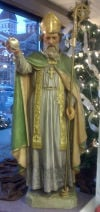St. Patrick Statue Antique Display