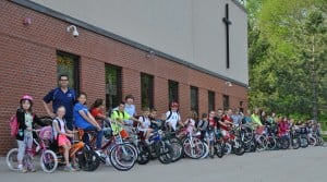 St. Mary holds Ride Your Bike to School day