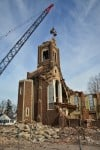 Crews dismantle old St. Michael Catholic Church in S'ville
