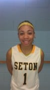 Seton Academy basketball player Robin Campbell