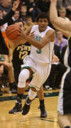 Valparaiso's Brandon Nicholas drives against Penn on Friday.