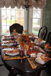 Centerpieces add flair to Thanksgiving meal