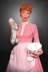 "Actress Sirena Irwin as Lucy Ricardo in ""I Love Lucy Live on Stage"""