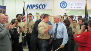 Pence attends ribbon cutting at Michigan City Energy Academy