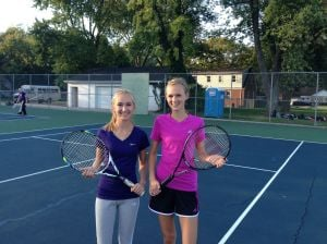Illiana's Miranda Bouwer and Hilary Van Drunen are a good match