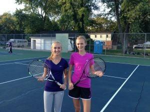 Illiana's Miranda Bouwer and Hilary Van Drunen are a good match
