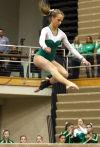 Valparaiso's Rushelle Miller competes on the beam