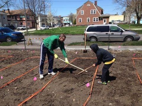 Laporte community garden taking shape porter county news for Laporte community