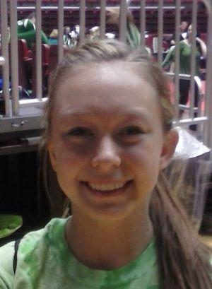 In the headphones: Portage gymnast Taylor Burhans