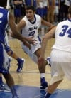 Lake Central's Cory Dickelman drives