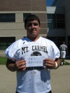 Mount Carmel football player Sal Arceo